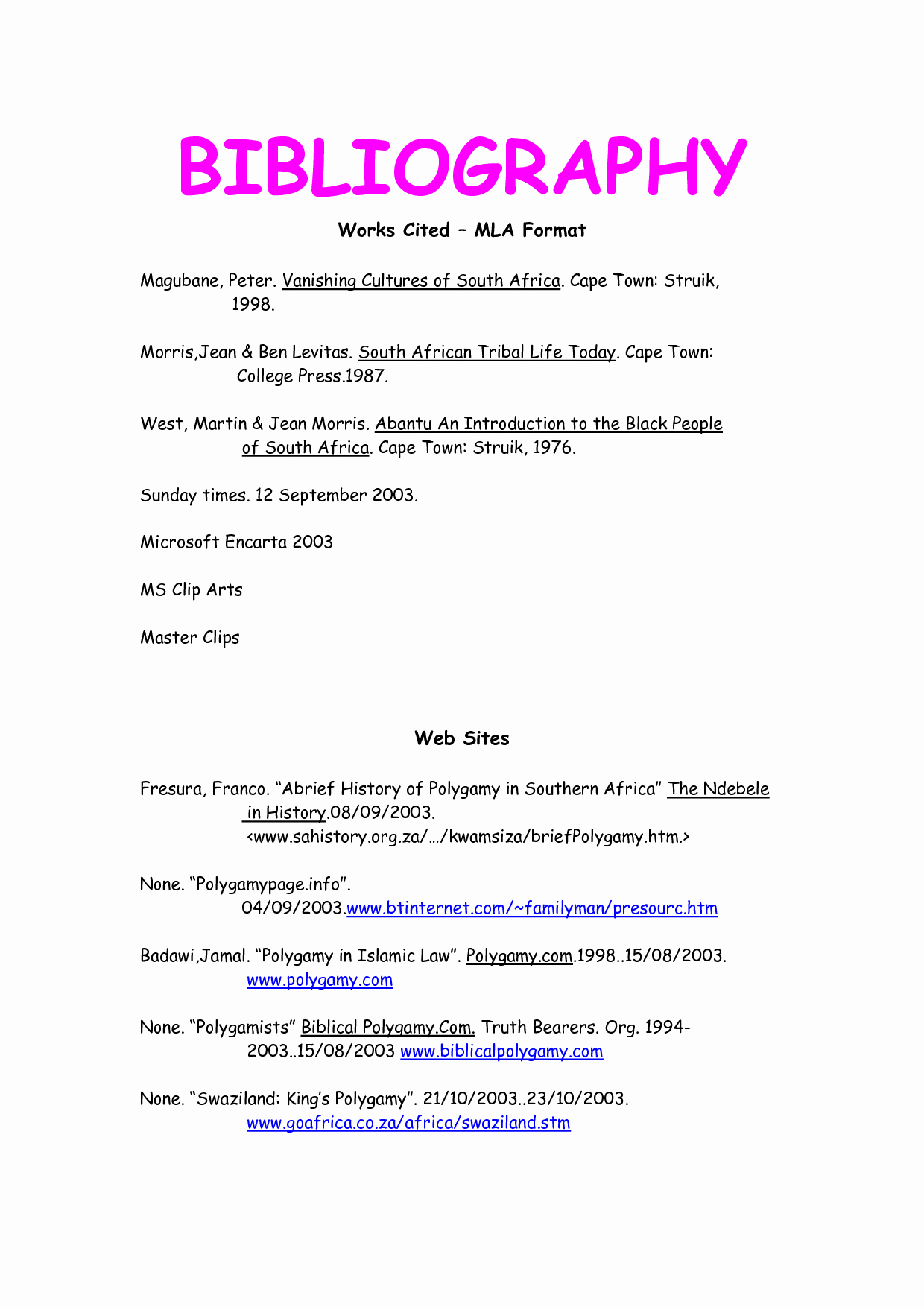Mla Works Cited Page Template Elegant Mla format Works Cited Template for My Class