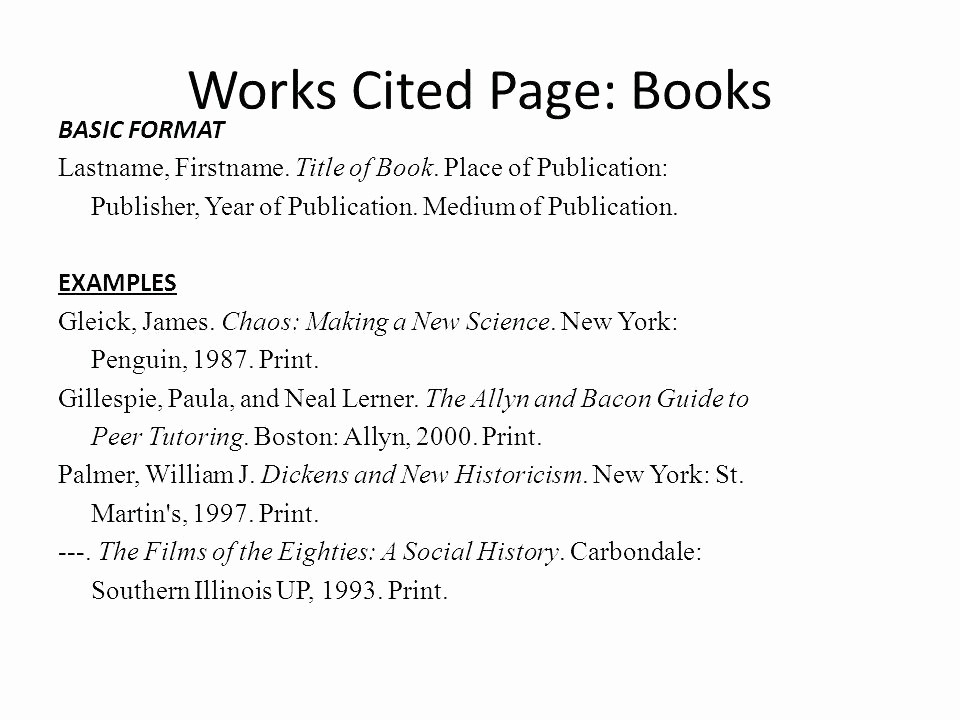 Mla Works Cited Page Template Lovely How to Write A Works Cited Page In Mla format
