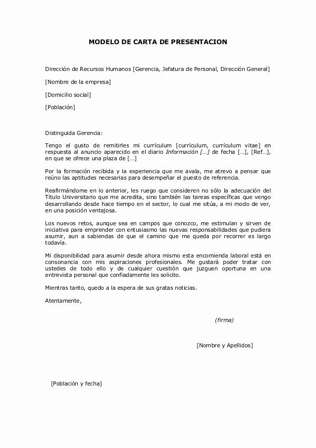 Modelo Carta De Recomendacion Personal Best Of Modelo De Carta De Presentacion
