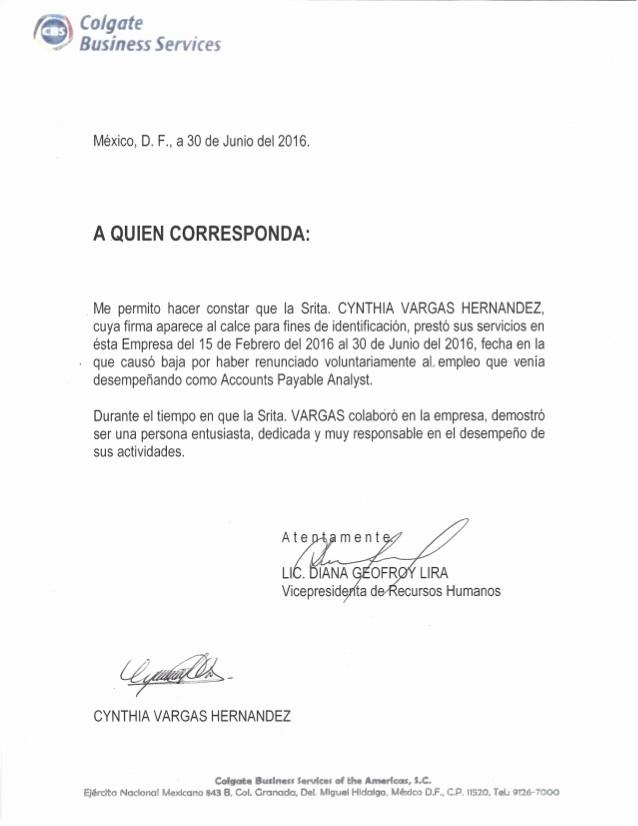 Modelo Carta De Recomendacion Personal Unique Carta Re Endacion Colgate