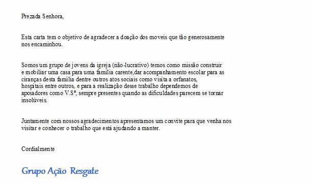 Modelo De Carta De Agradecimento Beautiful 1 Carta De Agradecimento by Alessandro