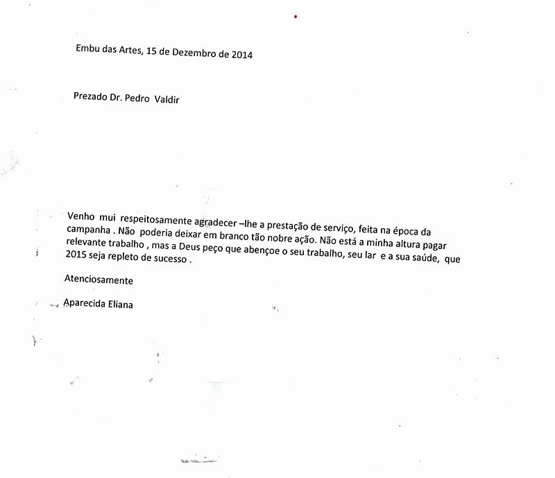 Modelo De Carta De Agradecimento Fresh Vereador Pedro Valdir Amaro Gurgel Carta De Agradecimento
