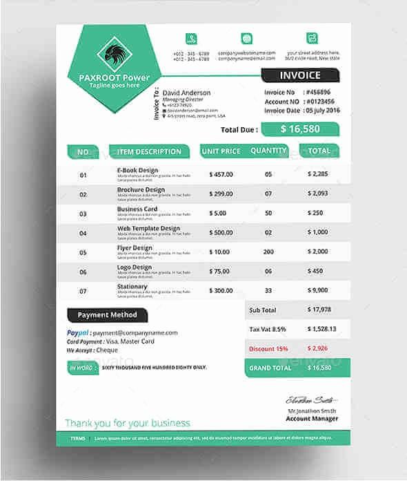 Modelo De Facturas En Excel Awesome 10 formatos Y Modelo De Facturas Para Imprimir Desde Casa