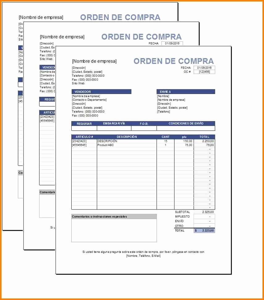 Modelo De Facturas En Excel Awesome Modelos De Facturasantilla De orden De Pras Excel