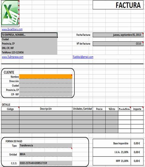 Modelo De Facturas En Excel Fresh Plantillas Facturas Excel Plantillas De Facturas Y – I Started