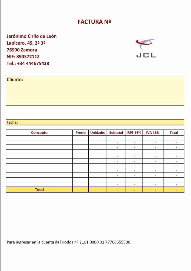 Modelo De Facturas En Excel New Cómo Hacerse Una Buena Plantilla De Factura Con Excel