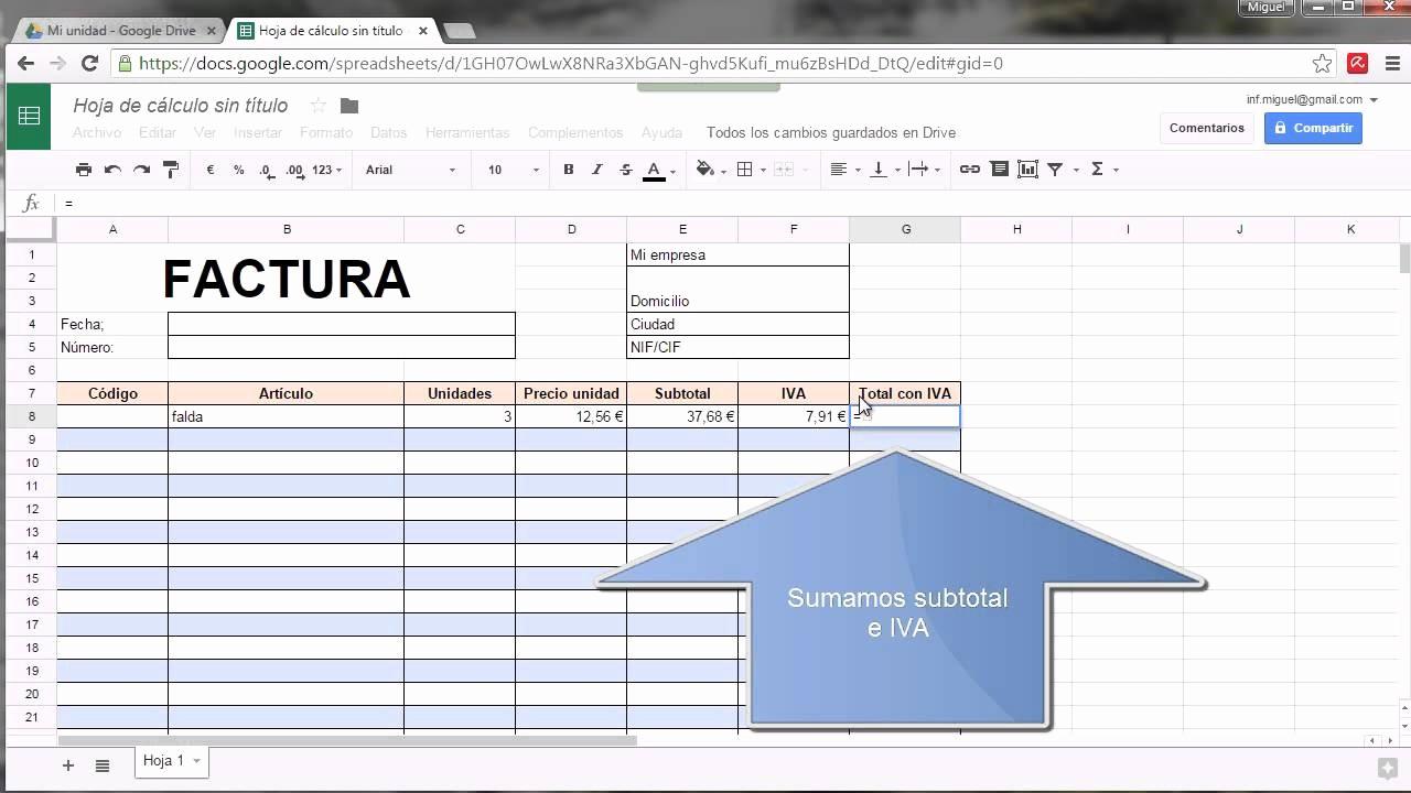 Modelo De Facturas En Excel New Modelo De Factura Google Drive
