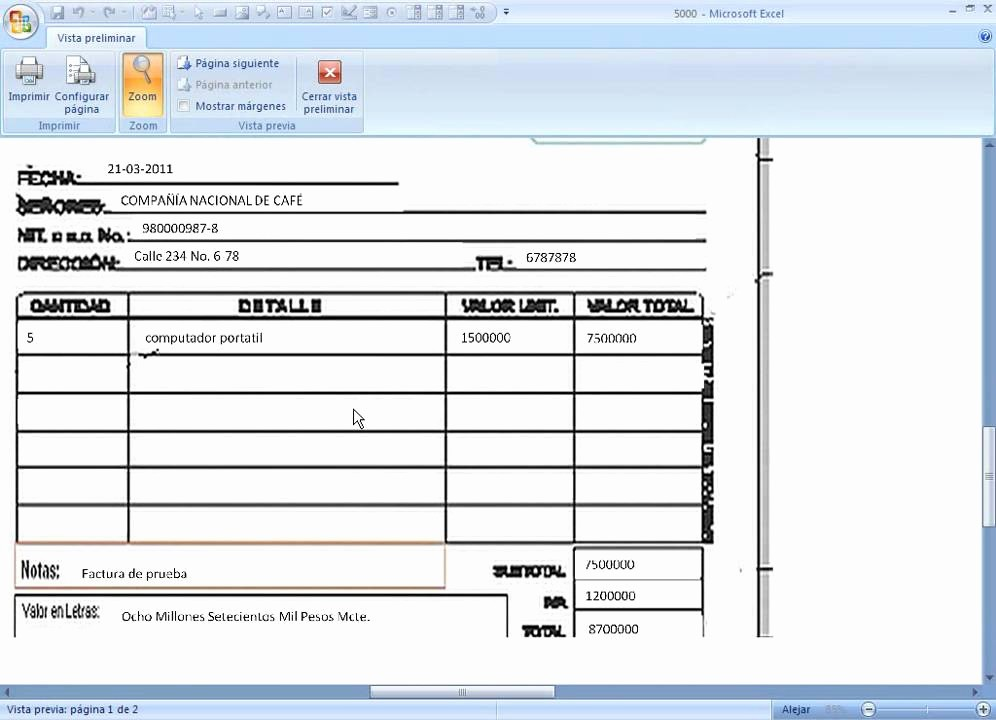 Modelo De Facturas En Excel Unique formato Cotizacin O Factura Excel 2010 Fice T