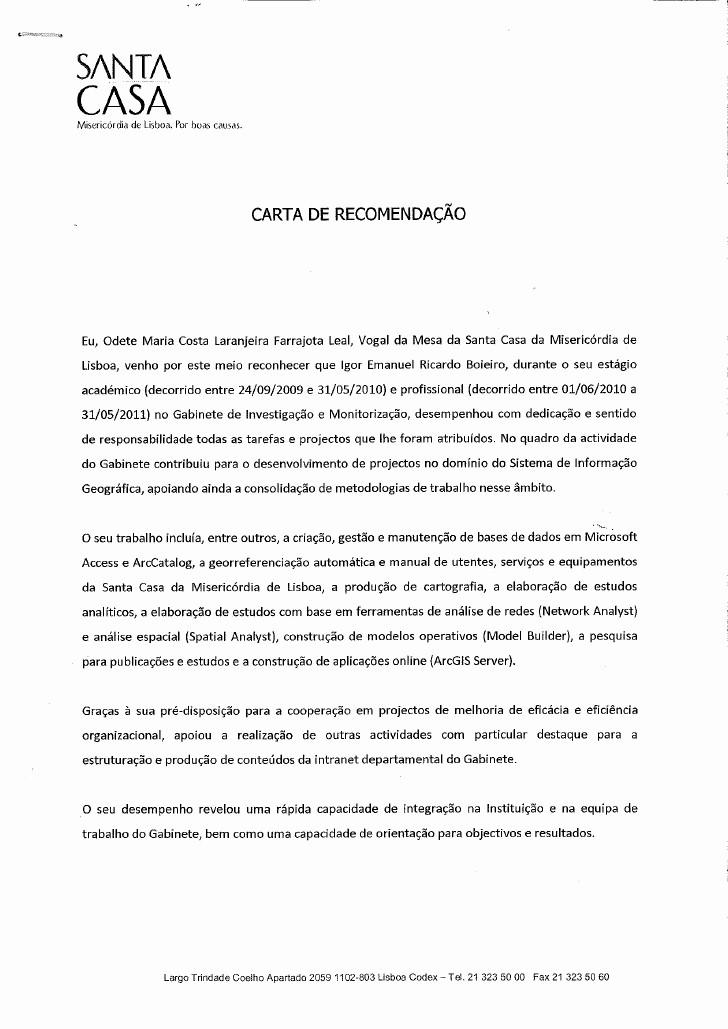 Modelos De Carta De Recomendacao Beautiful Carta De Re Endação Scml