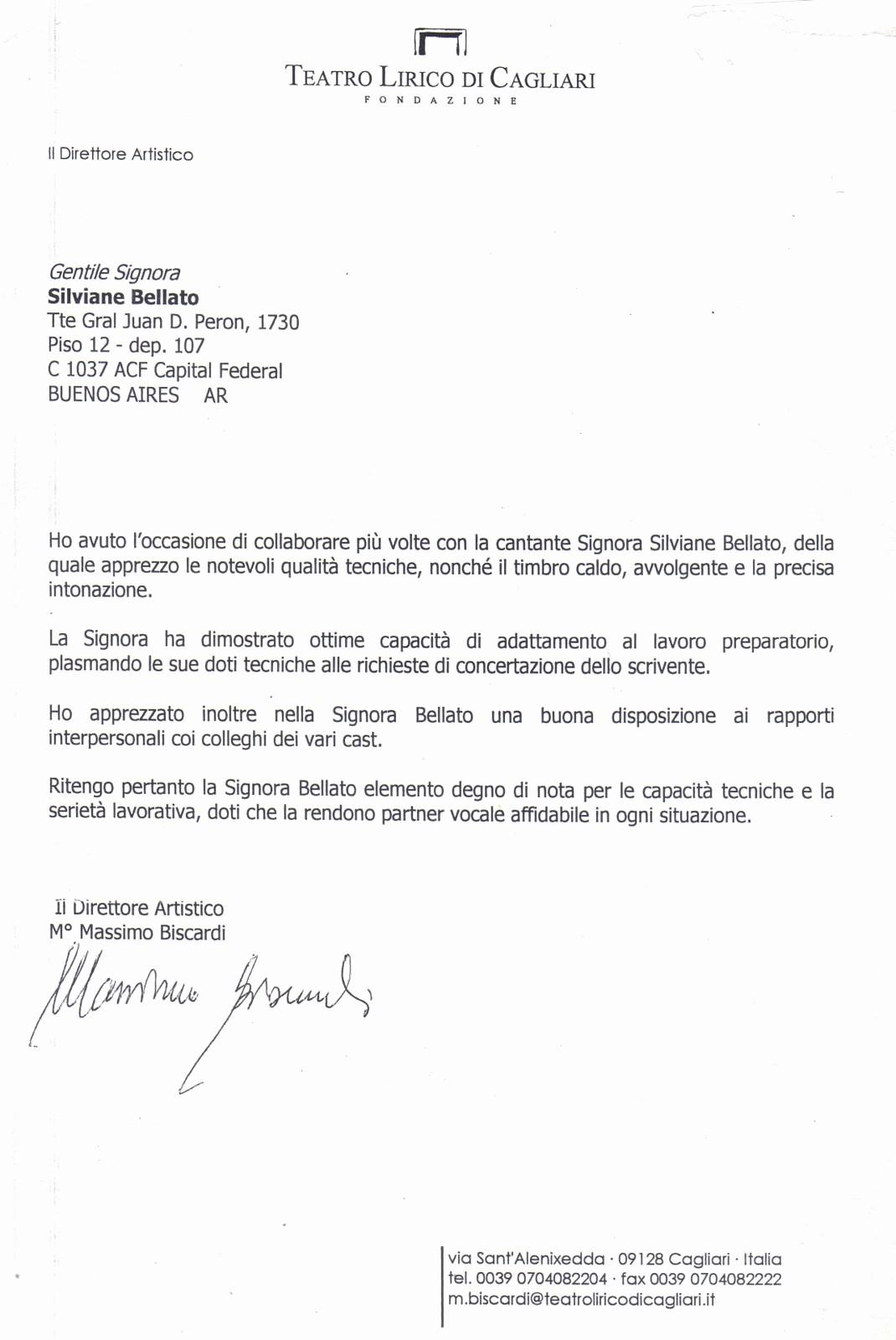 Modelos De Carta De Recomendacao Lovely Silviane Bellato soprano Carta De Re Endação De