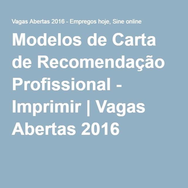 Modelos De Carta De Recomendacao New Modelos De Carta De Re Endação Profissional Imprimir