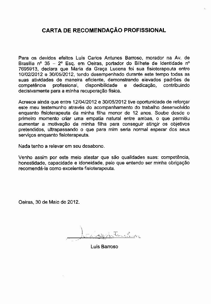 Modelos De Carta De Recomendacao Unique Carta De Referncia Renato Modelo De Carta De Referncia