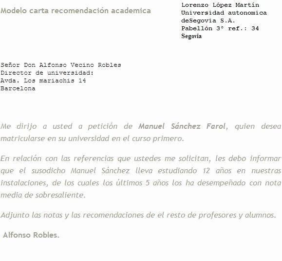 Modelos De Carta De Recomendacion Lovely Machote De Cartas De Re Endacion Personal Imagui