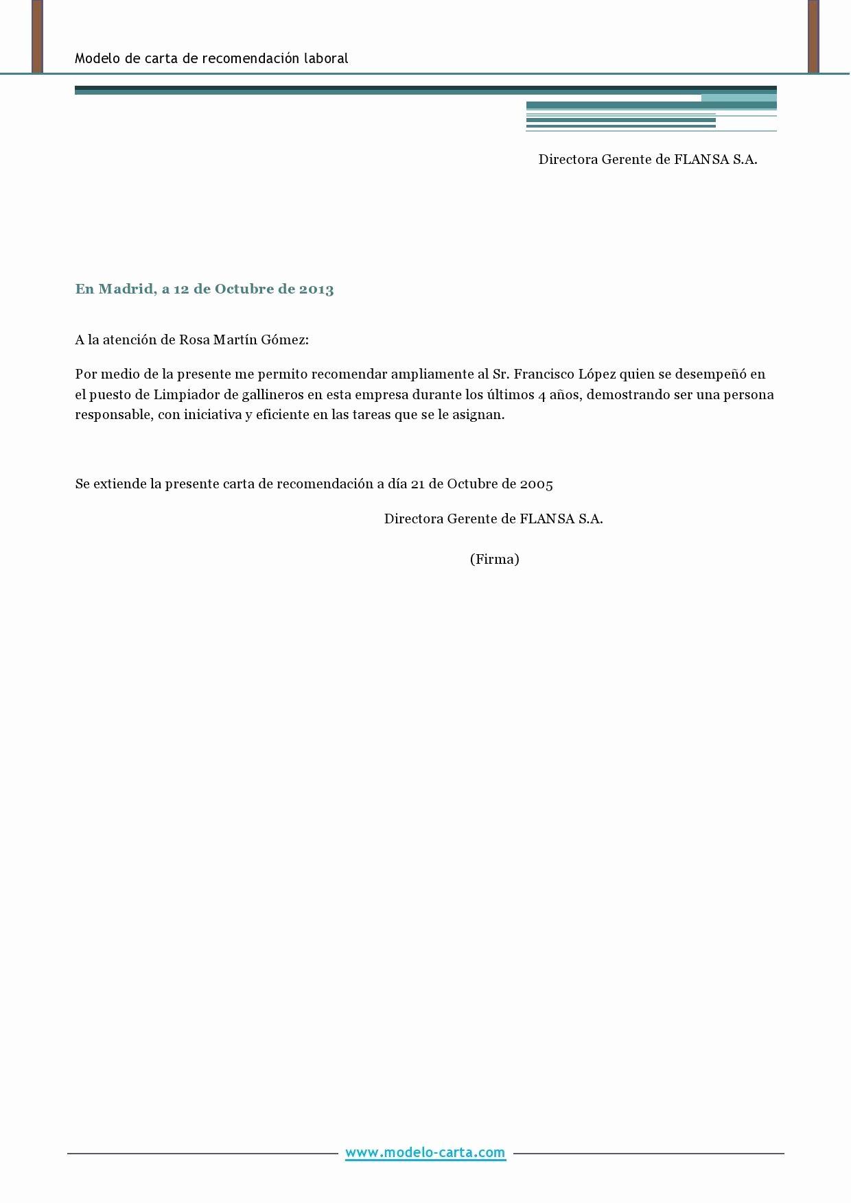 Modelos De Carta De Recomendacion Unique Carta Responsiva formato
