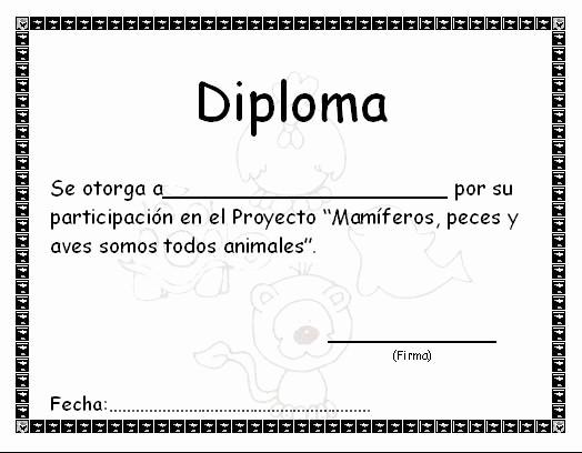 Modelos De Diplomas De Reconocimiento Awesome Animales18 Proyectoanimales