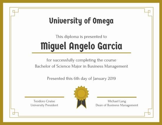 Modelos De Diplomas De Reconocimiento Awesome Modelos De Diplomas Online E Para Imprimir Canva