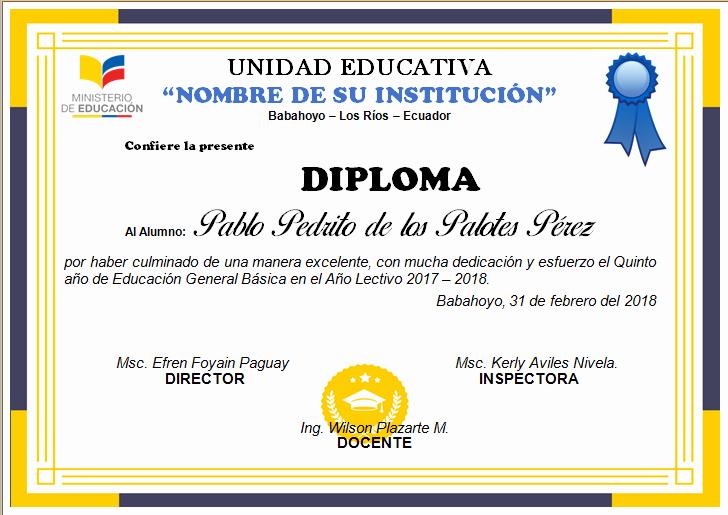 Modelos De Diplomas De Reconocimiento Lovely Diploma Para NiÑos Diplomas Plantilla Diplomas Para Editar