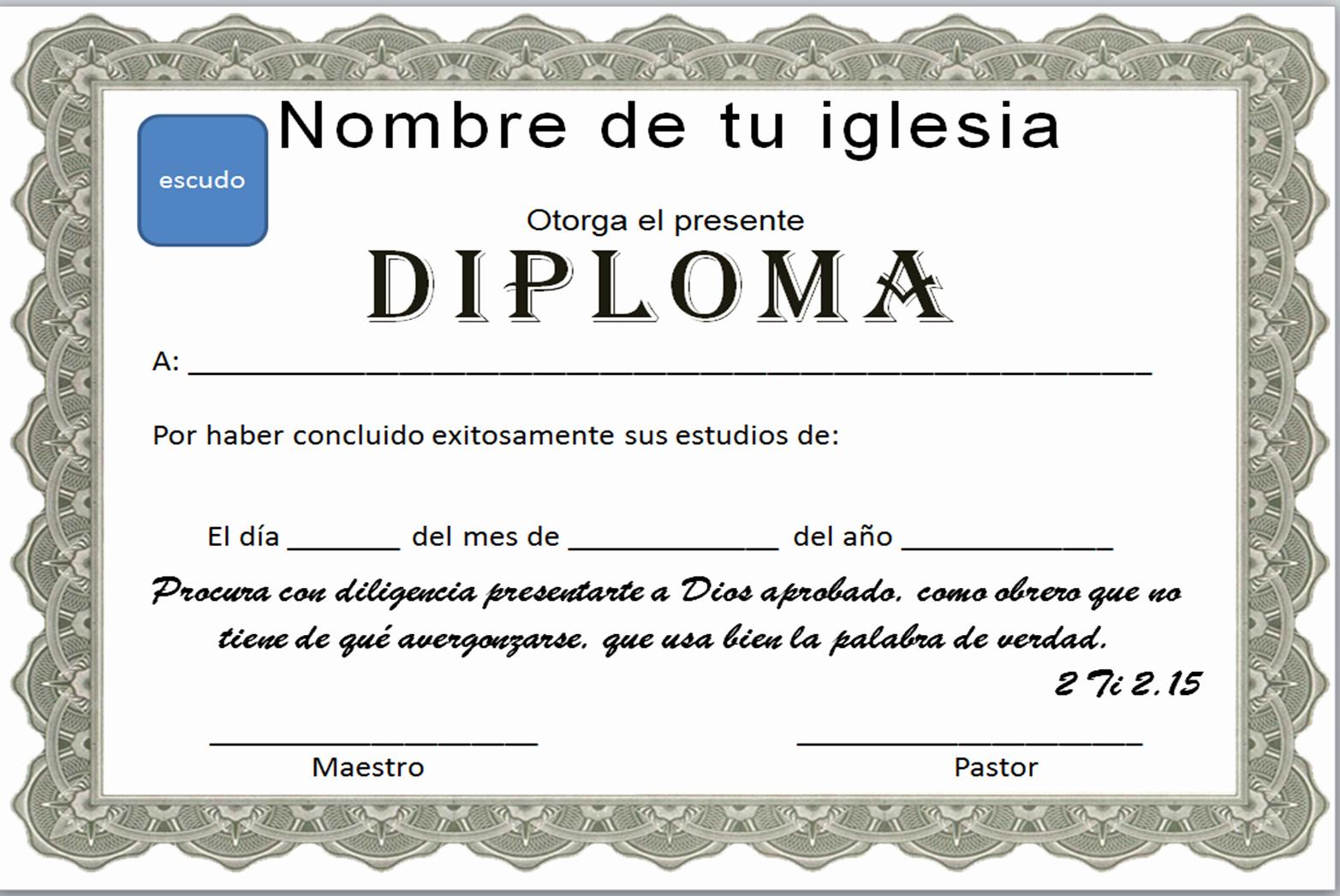 Modelos De Diplomas Para Editar Awesome Iglesia Mar Abierto Diplomas Cristianos Para Descargar Gratis