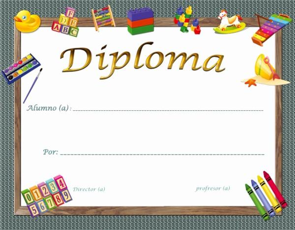 Modelos De Diplomas Para Editar Beautiful Diplomas Escolares Infantiles Para Niños Para Imprimir Y