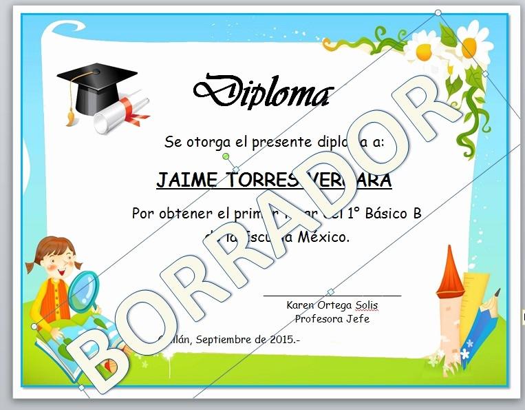 Modelos De Diplomas Para Editar Elegant Diplomas Para Ni 241 Os Rellenar Imagui Plantillas