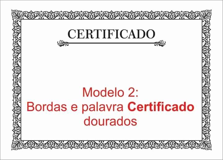 Modelos De Diplomas Para Editar Inspirational Certificado Diploma P Imprimir Bordas Dourado Kit 5