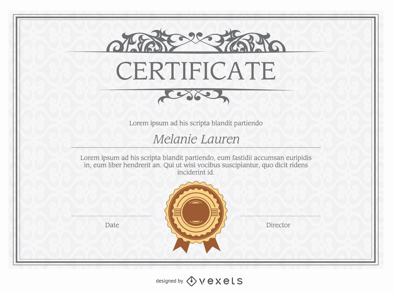 Modelos De Diplomas Para Editar Luxury Modelo Del Diploma Descargar Vector