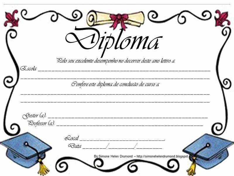 Modelos De Diplomas Para Editar New Simone Helen Drumond 22 Modelos De Diplomas Para CrianÇas