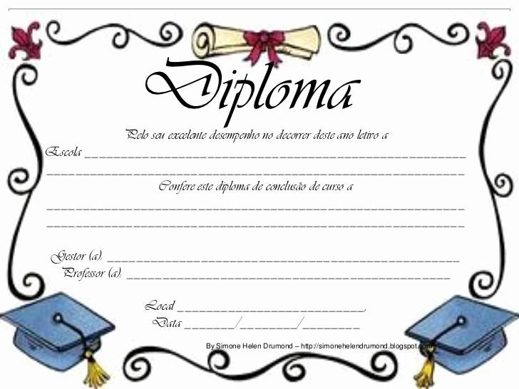 Modelos De Diplomas Para Editar Unique 22 Modelos De Diplomas Simone Helen Drumond