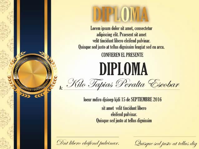Modelos De Diplomas Para Editar Unique Diplomas O Reconocimientos Consultoria Publicitaria