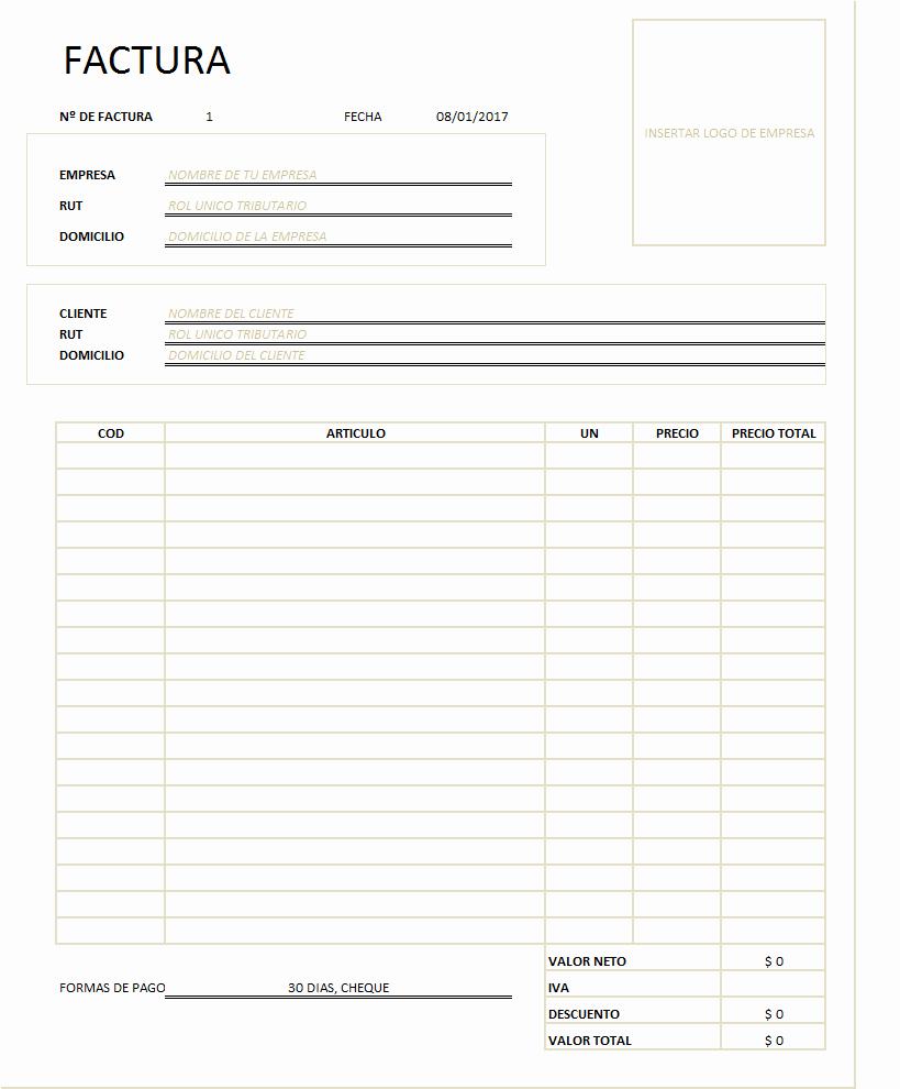 Modelos De Facturas En Excel Awesome Web Del Brito Descargar Modelo De Factura En Excel Gratis