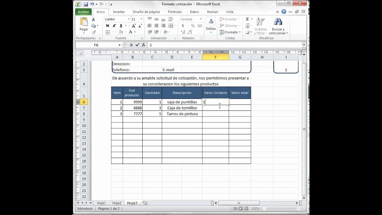 Modelos De Facturas En Excel Beautiful formato Cotización O Factura Excel 2010