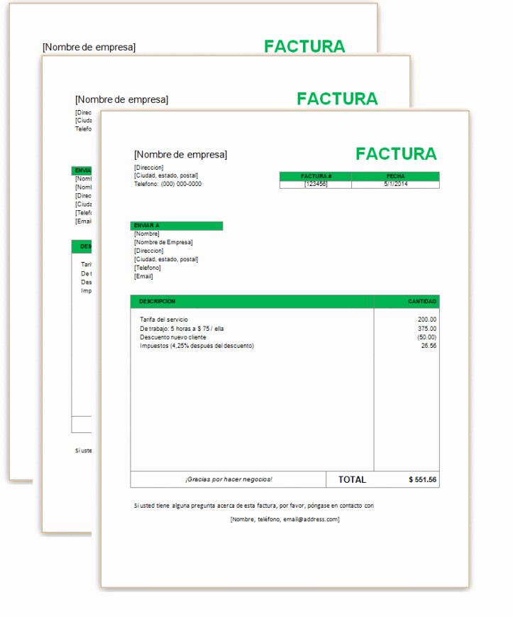 Modelos De Facturas En Excel Fresh Factura Simple Con Word – Plantillas Gratis