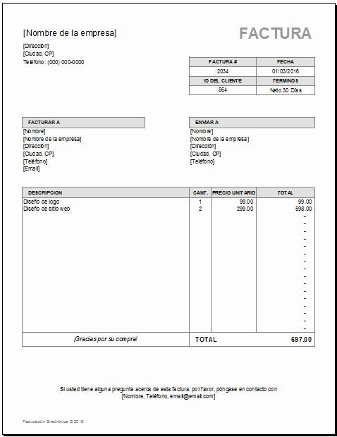 Modelos De Facturas En Excel Unique Modelo De Factura Para Excel Modelo Factura