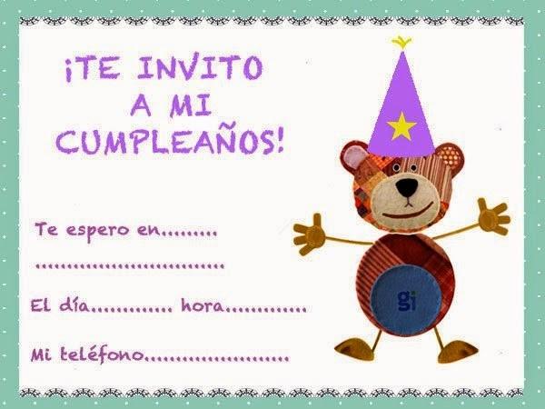 Modelos De Tarjetas De Invitacion Beautiful Tarjetas De Invitación De Cumpleaños Para Niños