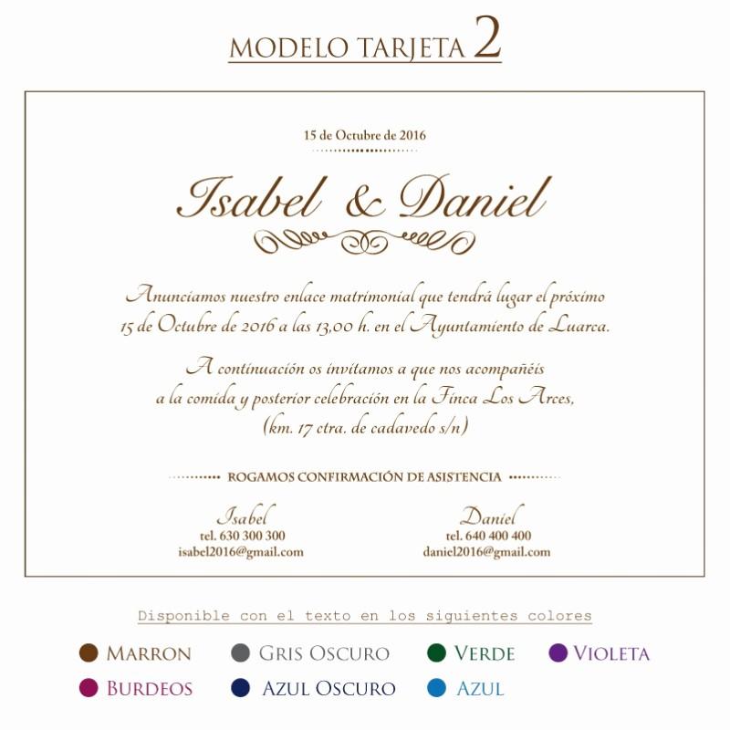 Modelos De Tarjetas De Invitacion Lovely Prar Tarjeta Invitacion Boda Modelo 2