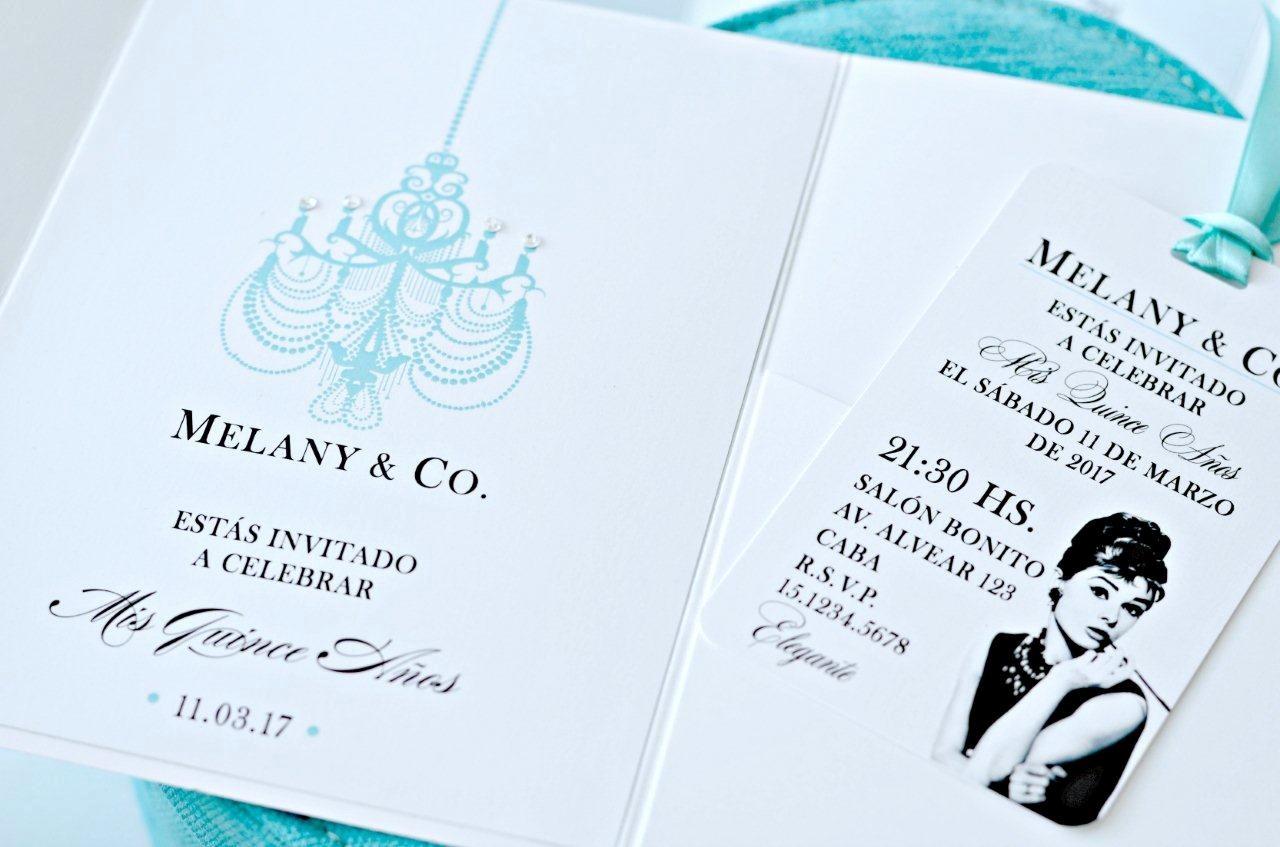 Modelos De Tarjetas De Invitacion New Invitaciones De 15 Modelo Tiffany