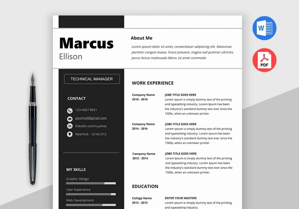 Modern Resume Template Free Word Beautiful Modern Resume Template Word [download] Maxresumes