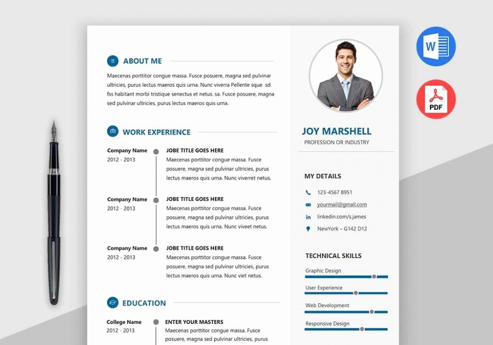 Modern Resume Template Free Word Best Of Best Modern Resume Template [2018] Maxresumes