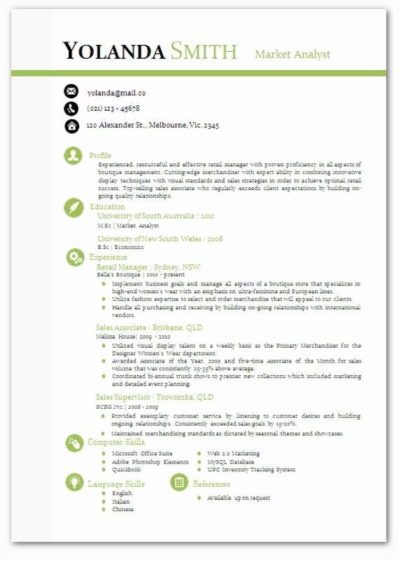 Modern Resume Template Free Word Best Of Cool Looking Resume Modern Microsoft Word Resume Template
