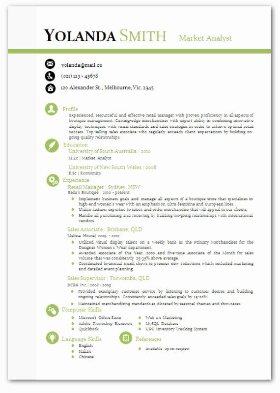 Modern Resume Template Free Word Best Of Cool Looking Resume Modern Microsoft Word Resume Template