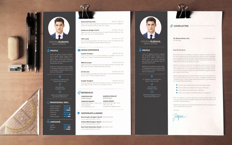 Modern Resume Template Free Word Elegant Modern Cv Template Word Free Download