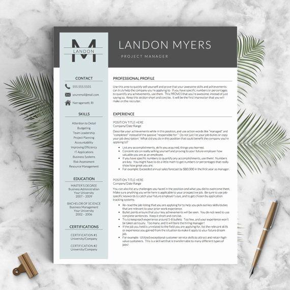 Modern Resume Template Free Word Fresh Best 20 Modern Resume Template Ideas On Pinterest