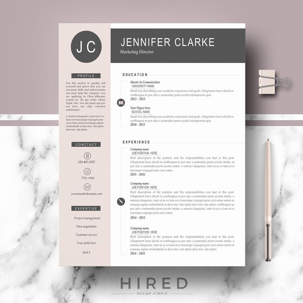 Modern Resume Template Free Word Inspirational Resume Templates Hired Design Studio