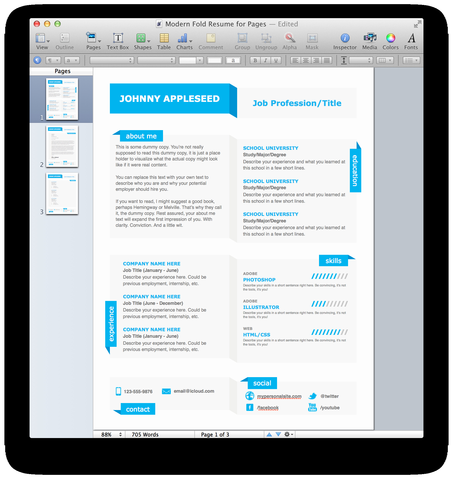 Modern Resume Template Free Word Lovely Modern Resume Template Microsoft Word