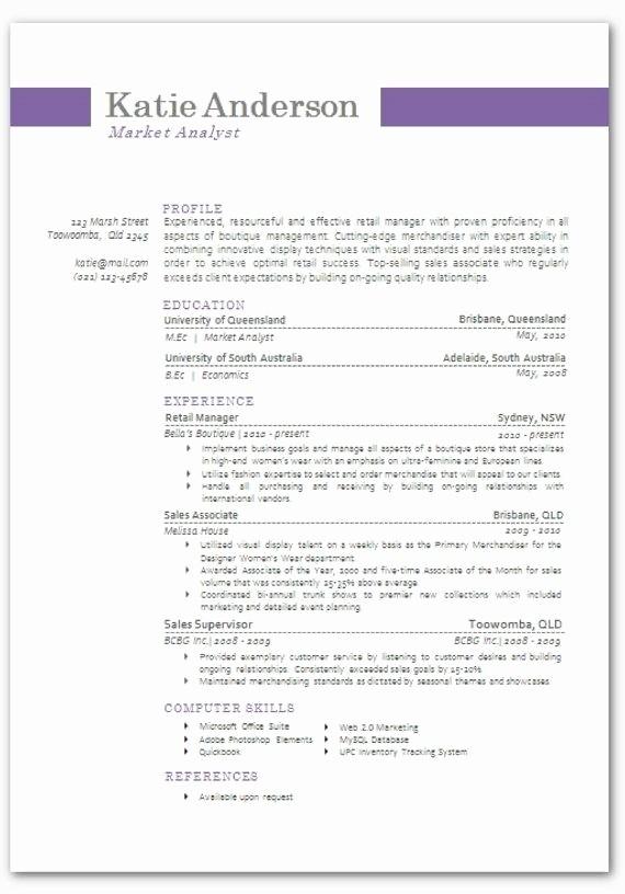 Modern Resume Template Free Word Lovely Modern Resume Templates Word