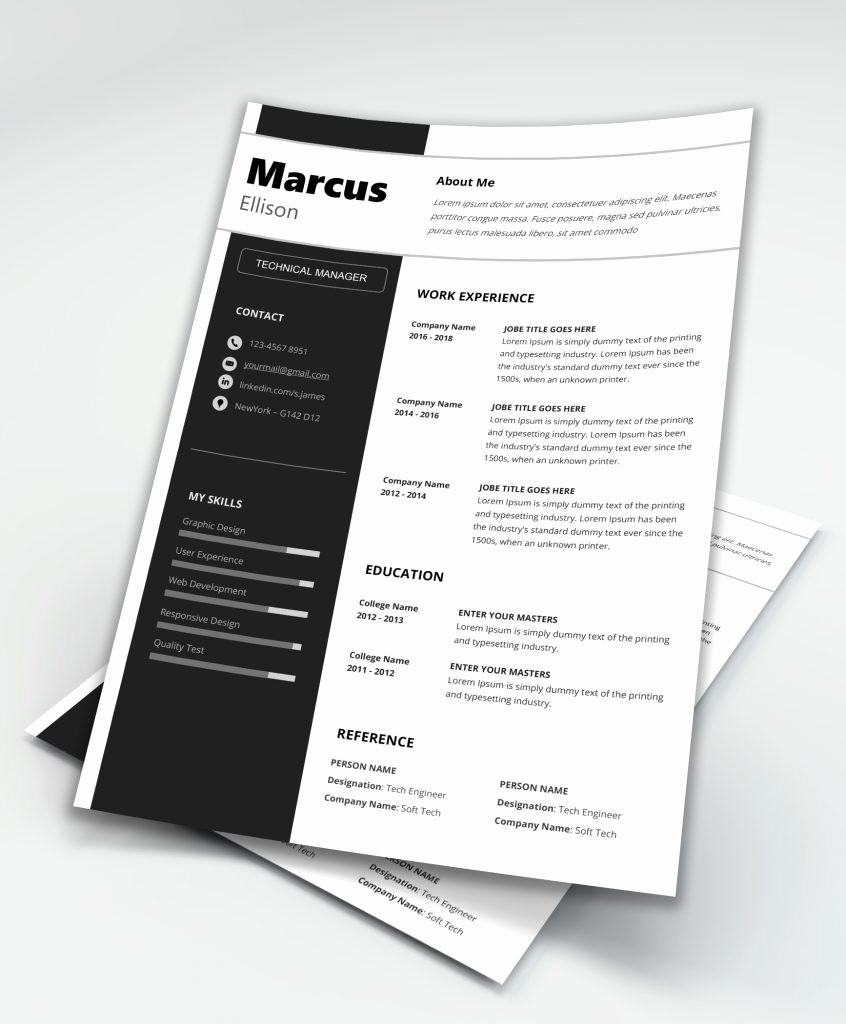 Modern Resume Template Free Word Luxury Modern Resume Template Word [download] Maxresumes