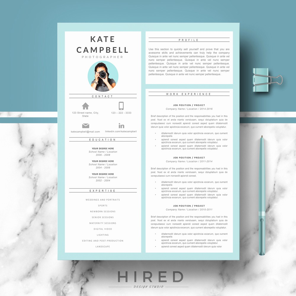 Modern Resume Template Free Word New Modern Resume Template Archives Hired Design Studio