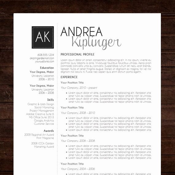 Modern Resume Template Free Word Unique Resume Template Cv Template Word for Mac or Pc