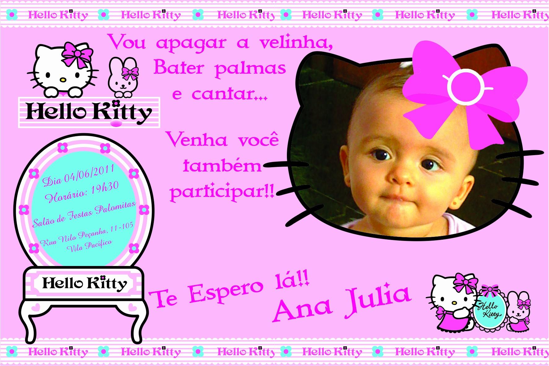 Moldes Para Convites De Aniversario Awesome Convite De Aniversário Mimos Da Hello Kitty