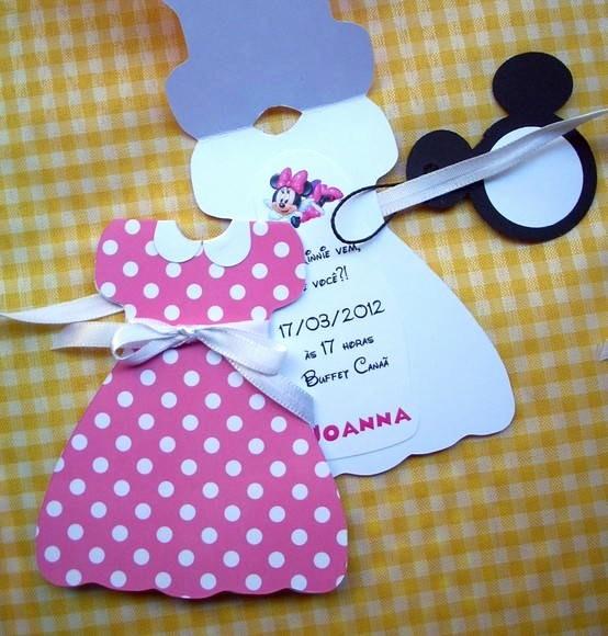 Moldes Para Convites De Aniversario Beautiful Convite Da Minnie Pink Vestido Tag No Elo7